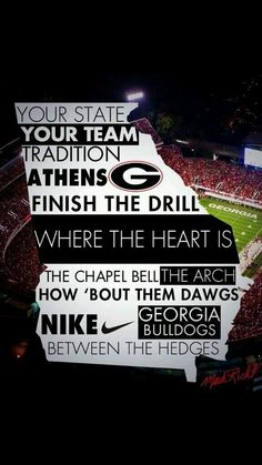Go Dawgs! ~ Check this out too ~ RollTideWarEagle.com sports stories that inform and entertain and Train Deck to learn the rules of the game you love. #Collegefootball Let us know what you think. #UGA