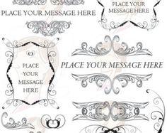 Swirls Clipart Digital Vintage Border Frame Baroque Decorative Flourish  Ornaments Old World DIY Wedding Invitation Scrapbook