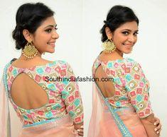 priyanka bharadwaj peach saree 420 press meet 600x495