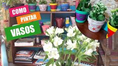 Aprenda a pintar VASOS e DECORE sua casa na PRIMAVERA!!! Diy Videos, Planter Pots, Youtube, Plants, Timber Furniture, Painting Furniture, Furniture Restoration, Mosaic Artwork, Recycled Crafts