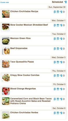 Weekly Meal Plan - 7 Days of Mexican Recipes