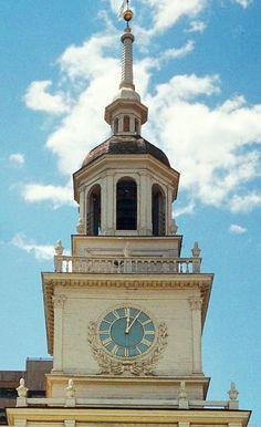 Clock at Independence Hall - Philadelphia
