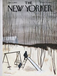 James Stevenson : Cover art for The New Yorker 1977 - 5 January 1963