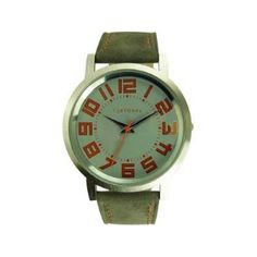 Fireworks Gallery - Jewelry - Watches - Leather Band - Track Watch - Gray