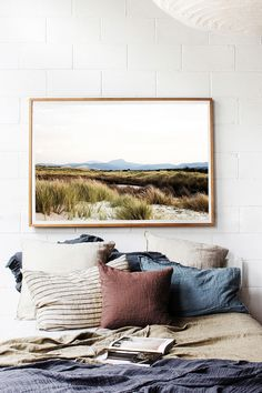 'Wilderness' Landscape Photographic Print by Kara Rosenlund. Completely alone in the grasses, sand and mountains. Solitude. Captured on the East Coast of Tasmania. © Kara Rosenlund  Shop here: http://shop.kararosenlund.com/wilderness-landscape-photographic-print/