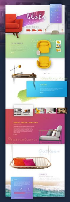 Blofs : Colorful decor in Web design Layout Web, Website Design Layout, Blog Design, Page Design, Layout Design, Ux Design, Website Design Inspiration, Webdesign Layouts, Web And App Design