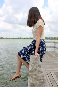 "Emily of ""Emily Lane Style"" in UO's lace top #urbanoutfitters #lace #feminine"