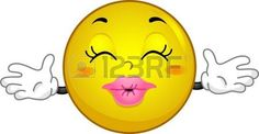 Illustration eines Smiley Offering Umarmungen und Küsse photo