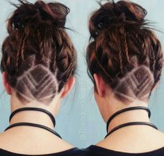 """Simply shaving the side of your head is so two years ago. These days, some women are taking the undercut to a whole new level by using them to create a pseudo """"hair tattoo.""""..."""