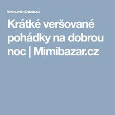 Krátké veršované pohádky na dobrou noc | Mimibazar.cz
