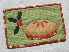 Cherry Pie, Christmas Pie Mug Rug pattern on Craftsy.com