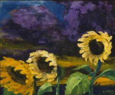 """Emil Nolde """"Girasoli in una tempesta di vento notturna"""", 1943 - Columbus Museum of Art"""
