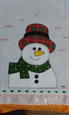Boneco de neve - Pach aplique