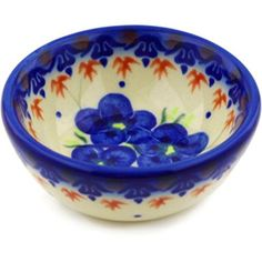 Ceramika Bona Polish Pottery Ceramic Bowl Hand Painted >>> Visit the image link more details. Pottery Bowls, Ceramic Bowls, Stoneware, Dessert Bowls, Polish Pottery, Dining Table In Kitchen, Program Design, Cookware, Great Gifts