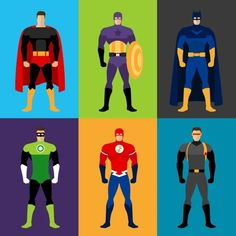 Superhero costumes by ssstocker on Creative Market