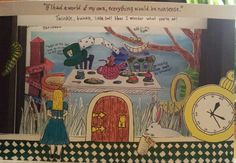 Alice in Wonderland Tunnel book / Diorama by Emily Wamsley