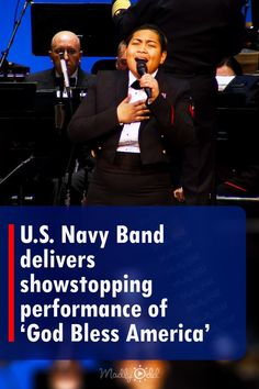 The United States Navy Band delivered a performance for the ages in their stunning rendition of the Irving Berlin classic, 'God Bless America.' With Musician 1st class Danlie Cuenca on lead vocals and backed by a full band arrangement, the band created a stirring tribute to American military personnel, past and present. It was a beautiful rendition with a timeless message. #usnavyband #godblessamerica #music #USNavy Us Navy Band, Live Music, Good Music, Irving Berlin, Military Personnel, United States Navy, God Bless America, Blessed, Entertaining