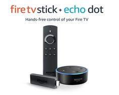 "Deal of the Day: Save $30 on Fire TV Stick and Echo Dot Combo for 10/03/2017 only!   Pair the included Fire TV Stick and Echo Dot for hands-free voice control of your Fire TV with Alexa. Just ask for the content you want like, ""Alexa, play Sneaky Pete,"" and relax while Alexa gets your content started. Alexa, next episode. Alexa, find comedies. Alexa, pause. Alexa, launch Hulu., Alexa, play Ray Donovan. Alexa, go home.  Watch over 500,000 movies and TV episodes from Netflix, Prime Video…"
