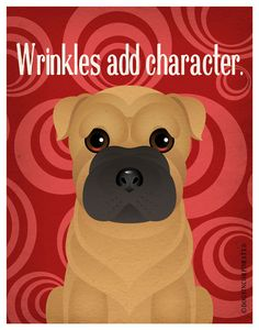 Shar Pei Funny Dogs Original Art Print - Humorous Dog Breed Art -11x14- Funny Dog Poster - Dogs Incorporated by DogsIncorporated on Etsy https://www.etsy.com/listing/101363325/shar-pei-funny-dogs-original-art-print