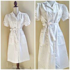 Vintage Nurse's Uniform // NOS Vintage Uniform // Cherry Ames Nurse Uniform Sz Large Uniform Dress, Shirt Dress, Nursing Clothes, Nursing Uniforms, Vintage Nurse, Dress Shapes, Wiggle Dress, Costume Design, Dress To Impress