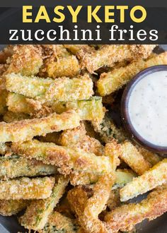 Keto Zucchini Fries - Maebells You will love these Keto Zucchini Fries for a low carb side! Awesome keto zucchini fries under 4 net carbs per serving! These fries are breaded with almond flour, parmesan and spices and baked until perfectly crispy! Zucchini Pommes, Parmesan Zucchini Fries, Bake Zucchini, Low Carb Zucchini Fries, Baked Breaded Zucchini, Fried Zucchini, Zucchini Lasagna, Low Carb Keto, Low Carb Recipes
