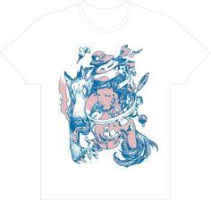 yonpoより発売される寺田克也Tシャツ。画像はホワイト。