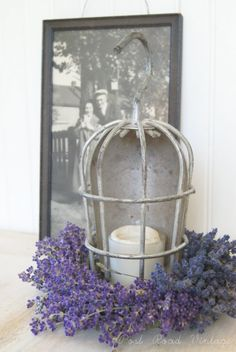 Lavender, UNPLUGGED!          Beautiful things from shoplights! VERY interesting, and with hangar included!