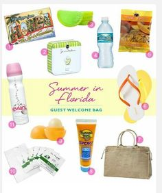 What to put in a beach themed wedding welcome bag