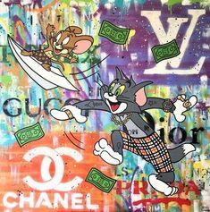 Shopping Spree, Pop Art, Artsy, Graphics, Cartoon, Canvas, Gallery, Drawings, Artwork