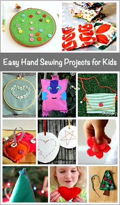 Hand Sewing Projects for Kids Easy Hand Sewing Projects for Kids: Lots of great beginner sewing projects that make great homemade gifts!Easy Hand Sewing Projects for Kids: Lots of great beginner sewing projects that make great homemade gifts! Sewing Basics, Sewing Hacks, Sewing Tutorials, Sewing Crafts, Sewing Tips, Sewing Ideas, Sewing Art, Sewing Dolls, Sewing Patterns Free