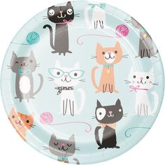 Shop for Purrfect Cat Party Supplies! Find pink cat birthday decorations, party favors, pink cat party ideas, and more. Birthday Cake For Cat, Birthday Party Themes, Girl Birthday, Birthday Ideas, Kitty Party Themes, Birthday Cartoon, 12th Birthday, Birthday Invitations, Party Plates