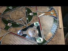 Stained glass soldering decorative edge - 32inch circle 9f -  Dichroic Glass Man