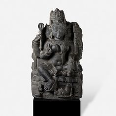 Pala, Bengal, 10th Century CE Stone Height: 23 in (58.4 cm) Width: 11 in (27.9 cm) REGISTERED ANTIQUITY-NON-EXPORTABLE Provenance: An Important Private Collection, Mumbai Rare Subject