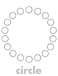 Enjoy these free do a dot printables of shapes!  Each shape's name is written in light gray on the bottom of the page so your preschool...