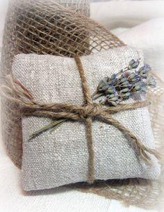 homespun linen lavender sachets