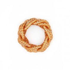 Rose gold braided cuff. Lara Bohinc strikes again. @Lara Bohinc