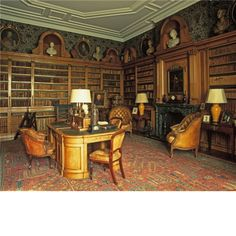 The library at Wrotham Park