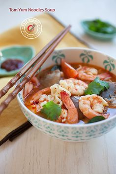 15-Minute Tom Yum Noodle Soup. The best of Thai food in 15 minutes! #thaifood #noodles