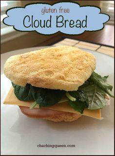 Gluten Free Cloud Bread Recipe | Gluten Free | Paleo alternative to bread www.chachingqueen.com