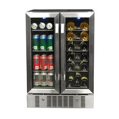 NewAir® Dual-Zone Built-In Compressor Wine and Beverage Cooler at Menards®: NewAir® Dual-Zone Built-In Compressor Wine and Beverage Cooler
