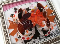 Mickey Fall Thanksgiving Stacked Boutique Hair Bow by BanglesnBows, $9.50
