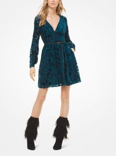 Superdry Robe patineuse en velours Tayla Robes pour Femme