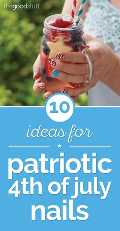 Show off your patriotic style with these 10 ideas for of July nails. From stars and stripes to fireworks, these Fourth of July nails are sure to dazzle!