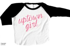 Absolutely darling 'Uptown Girl' #baby , #toddler , & #kid girl t shirt by Liv & Co.  This #girls #tee #shirt makes an excellent #gift for any little #girl in your life on any occasion.  #LivAndCo