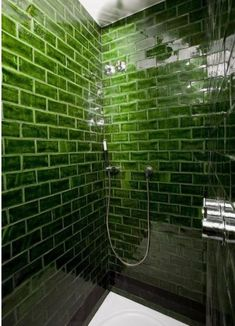 Attic Loft, Tile Floor, Bathtub, Bathroom, Interior, Barcelona Spain, Emerald Green, Colors, Standing Bath