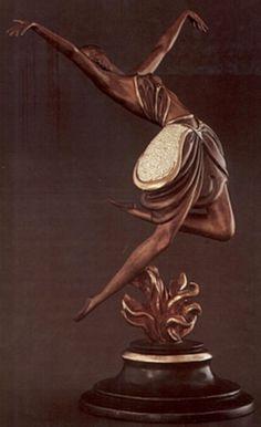 Erte La Danseuse Bronze