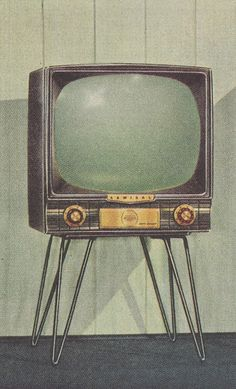 "The ""Giant"" Coral Gable model 21"" TV from Admiral, 1954."