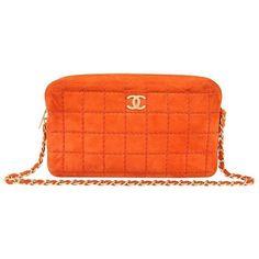 01332454e2a8 Preowned Chanel Orange Suede Camera Bag ( 2