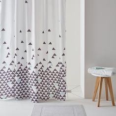 Cortina de duche, FLY, estampado triângulos. La Redoute Interieurs