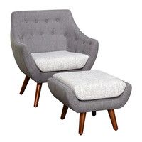 Elijah 2 Piece Arm Chair and Ottoman Set